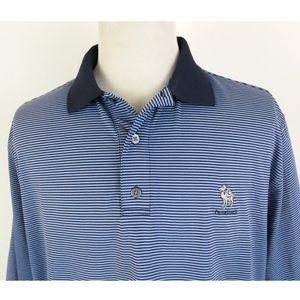 FootJoy XL Golf Polo Shirt Striped Camelback Club
